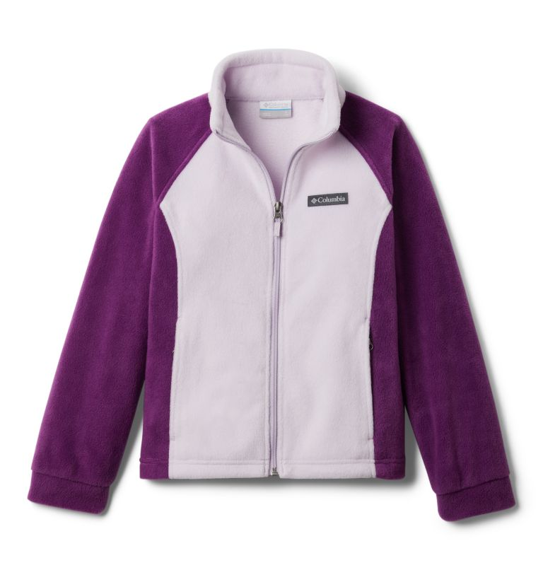 Benton Springs™ Fleece | 575 | M Girls' Benton Springs™ Fleece Jacket, Plum, Pale Lilac, front