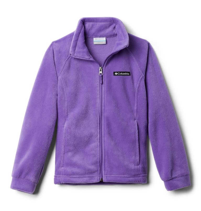 Benton Springs™ Fleece | 576 | S Girls' Benton Springs™ Fleece Jacket, Grape Gum, 3/4 front