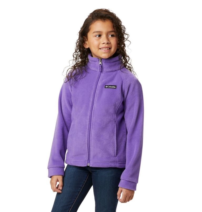 Benton Springs™ Fleece | 576 | S Girls' Benton Springs™ Fleece Jacket, Grape Gum, front