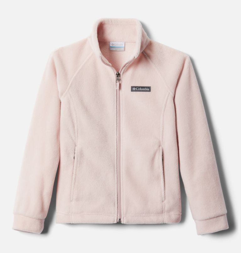 Benton Springs™ Fleece | 618 | S Girls' Benton Springs™ Fleece Jacket, Mineral Pink, front