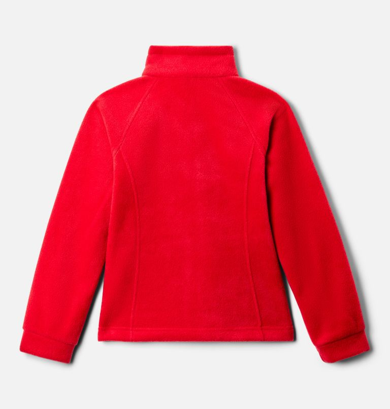 Benton Springs™ Fleece | 658 | S Girls' Benton Springs™ Fleece Jacket, Red Lily, back