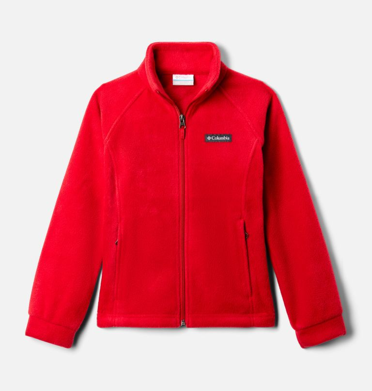 Benton Springs™ Fleece | 658 | S Girls' Benton Springs™ Fleece Jacket, Red Lily, front