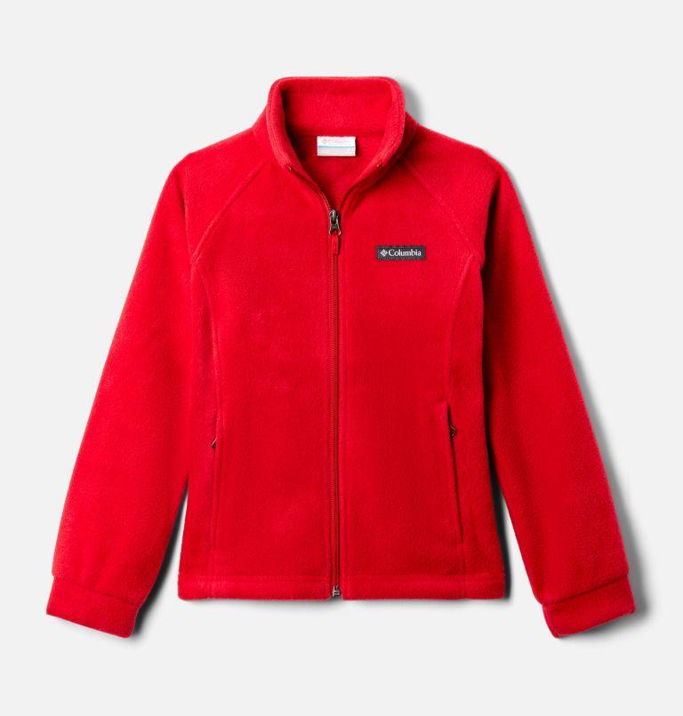 Benton Springs™ Fleece | 658 | L Girls' Benton Springs™ Fleece Jacket, Red Lily, front