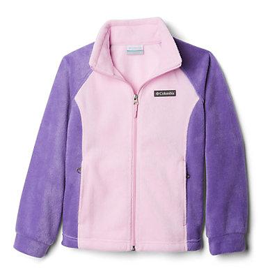 Girls' Benton Springs™ Fleece Jacket Benton Springs™ Fleece   667   XL, Pink Clover, Grape Gum, 3/4 front