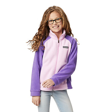 Girls' Benton Springs™ Fleece Jacket Benton Springs™ Fleece   667   XL, Pink Clover, Grape Gum, front