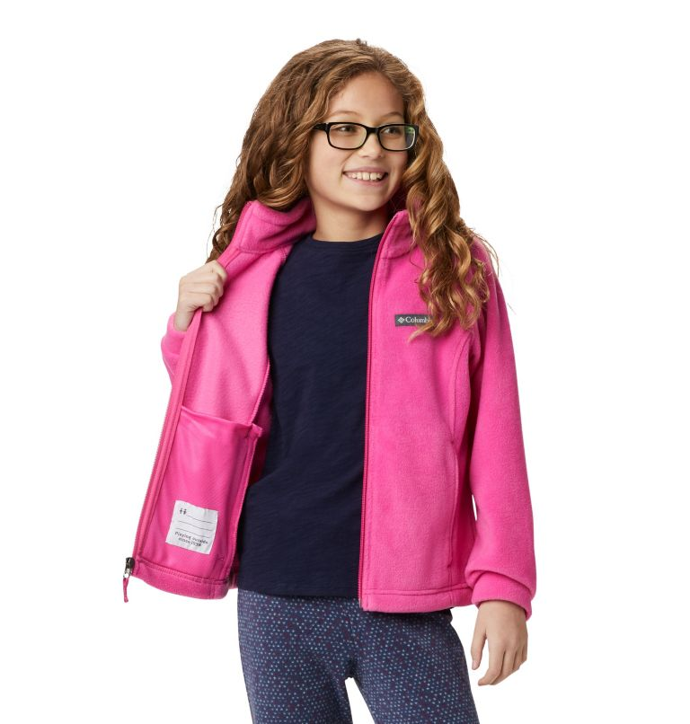 Benton Springs™ Fleece | 695 | S Girls' Benton Springs™ Fleece Jacket, Pink Ice, a4