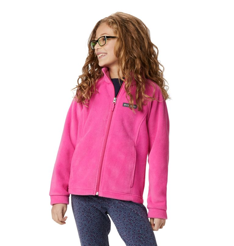 Benton Springs™ Fleece | 695 | XXS Girls' Benton Springs™ Fleece Jacket, Pink Ice, front