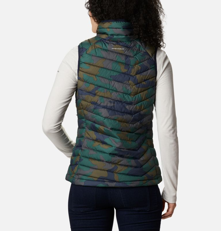 Powder Lite™ Vest | 472 | XS Gilet Powder Lite da donna, Dark Nocturnal Traditional Camo Print, back