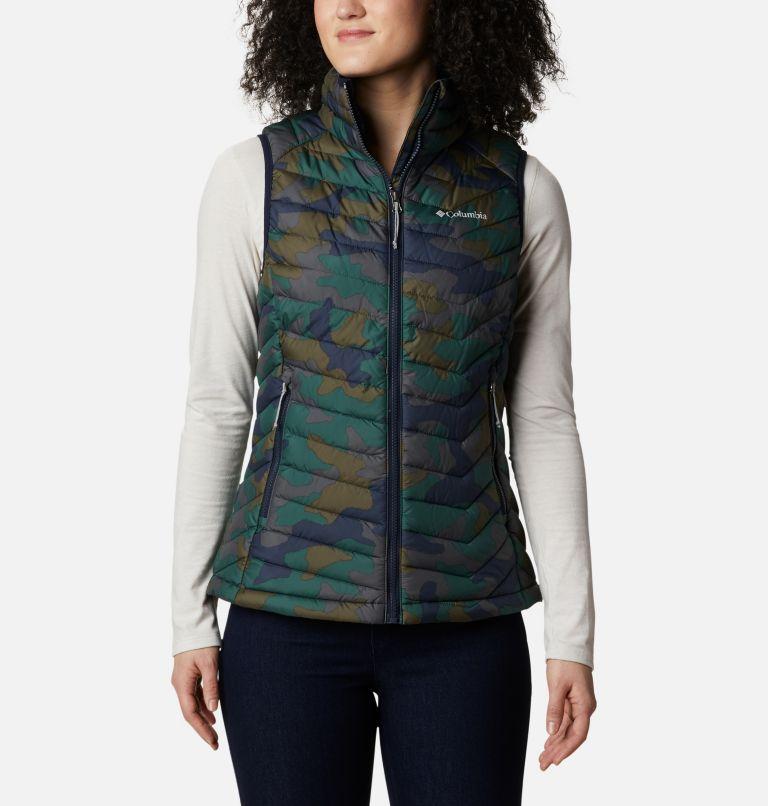 Powder Lite™ Vest | 472 | XS Gilet Powder Lite da donna, Dark Nocturnal Traditional Camo Print, front