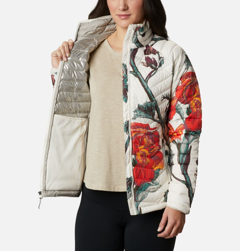 Powder Lite™ Jacket | 192 | M Veste isolée Powder Lite™ Femme, Chalk Botanica Print, a3