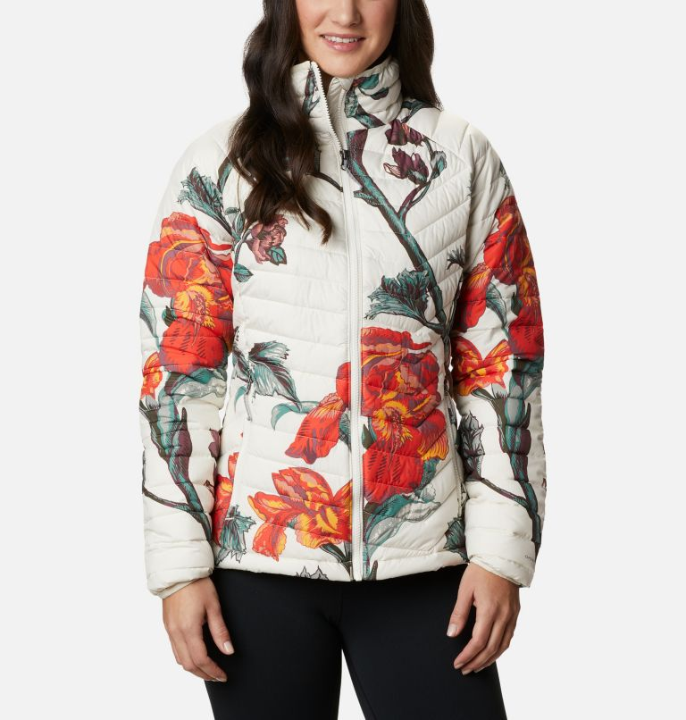 Powder Lite™ Jacket | 192 | M Veste isolée Powder Lite™ Femme, Chalk Botanica Print, front