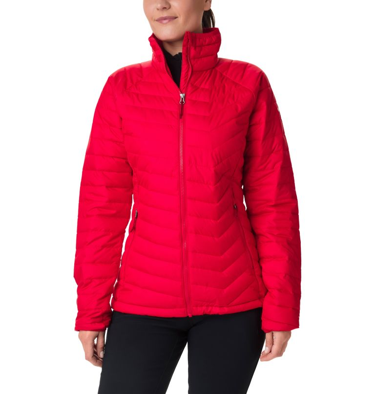 Powder Lite™ Jacket | 658 | L Veste isolée Powder Lite™ Femme, Red Lilly, front