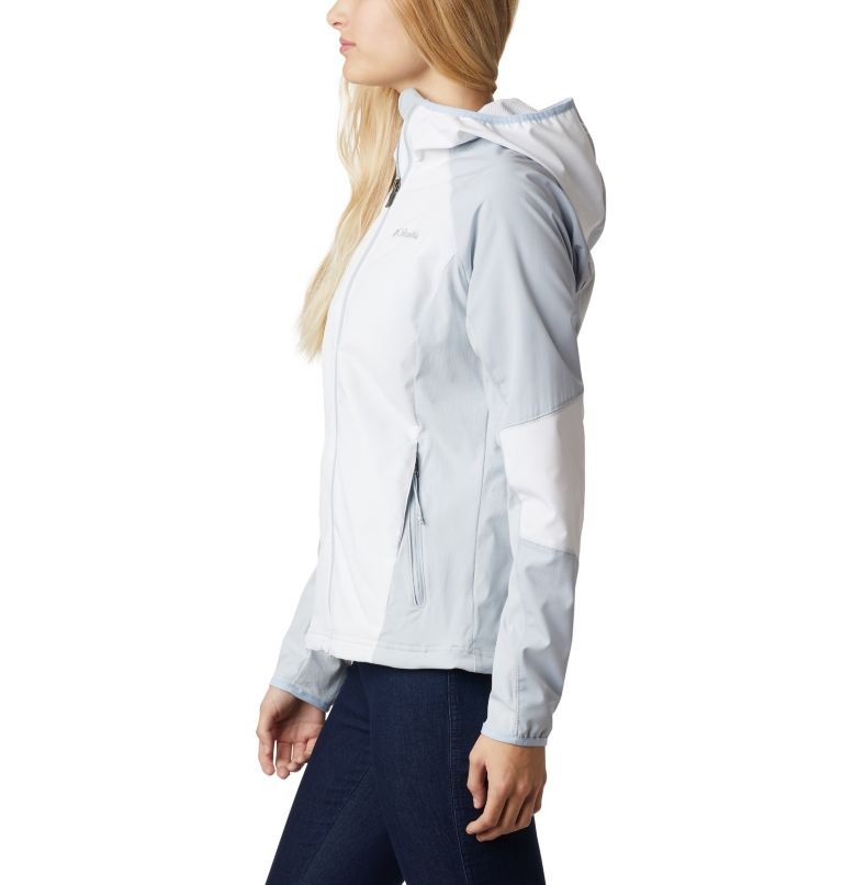 Sweet As™ Softshell Hoodie | 103 | S Women's Sweet As™ Softshell Hoodie, White, Cirrus Grey, a1