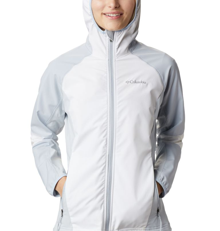 Sweet As™ Softshell Hoodie | 103 | S Women's Sweet As™ Softshell Hoodie, White, Cirrus Grey, a2