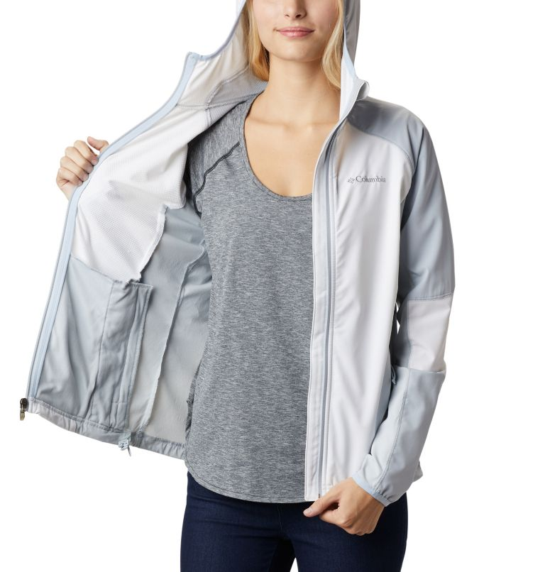 Sweet As™ Softshell Hoodie | 103 | S Women's Sweet As™ Softshell Hoodie, White, Cirrus Grey, a3