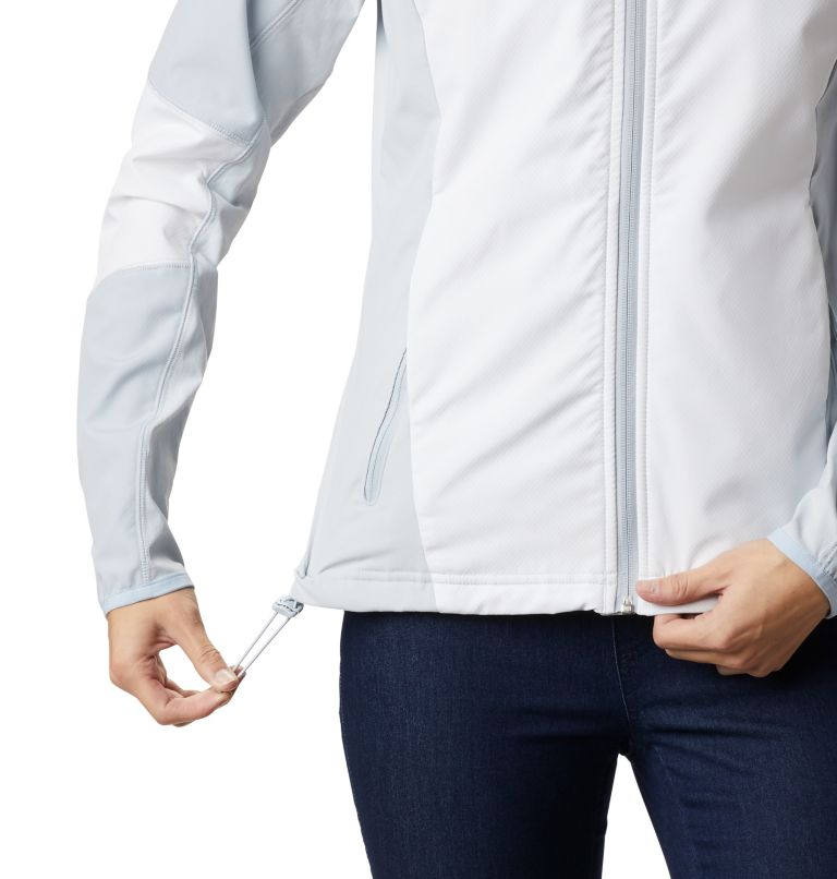 Sweet As™ Softshell Hoodie | 103 | S Women's Sweet As™ Softshell Hoodie, White, Cirrus Grey, a4