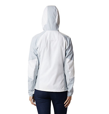 Women's Sweet As™ Softshell Hoodie Sweet As™ Softshell Hoodie | 633 | L, White, Cirrus Grey, back
