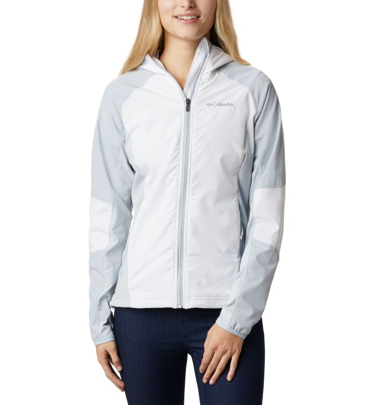 Sweet As™ Softshell Hoodie | 103 | S Women's Sweet As™ Softshell Hoodie, White, Cirrus Grey, front