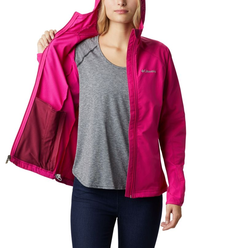 Sweet As™ Softshell Hoodie | 628 | S Women's Sweet As™ Softshell Hoodie, Haute Pink, a3