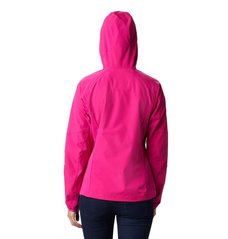Sweet As™ Softshell Hoodie | 628 | S Women's Sweet As™ Softshell Hoodie, Haute Pink, back