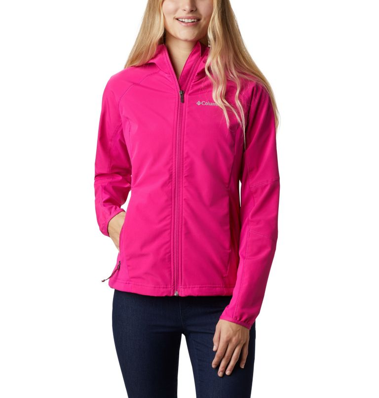 Sweet As™ Softshell Hoodie | 628 | S Women's Sweet As™ Softshell Hoodie, Haute Pink, front