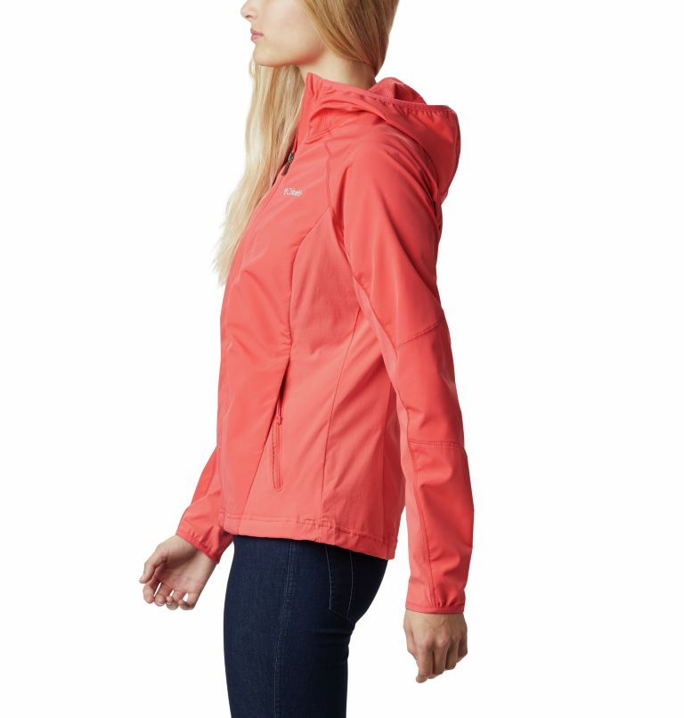Sweet As™ Softshell Hoodie | 633 | S Women's Sweet As™ Softshell Hoodie, Red Coral, a1