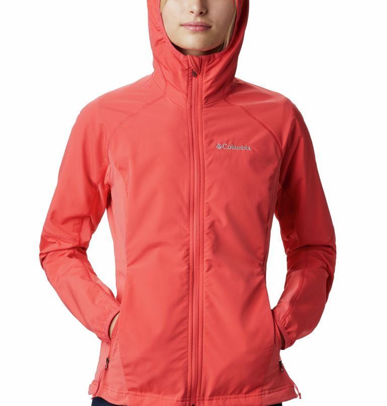 Sweet As™ Softshell Hoodie | 633 | S Women's Sweet As™ Softshell Hoodie, Red Coral, a2