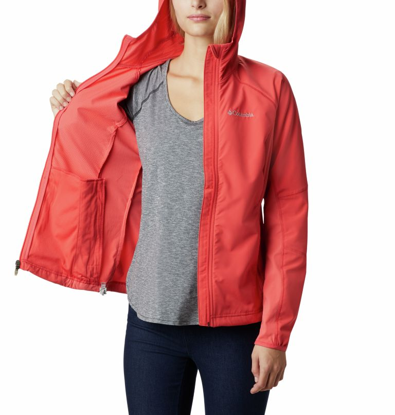 Sweet As™ Softshell Hoodie | 633 | S Women's Sweet As™ Softshell Hoodie, Red Coral, a3