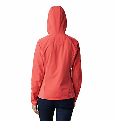 Women's Sweet As™ Softshell Hoodie Sweet As™ Softshell Hoodie | 633 | L, Red Coral, back