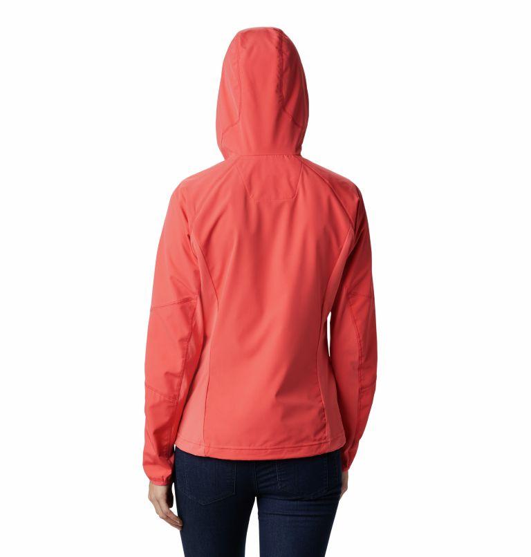 Sweet As™ Softshell Hoodie | 633 | XS Women's Sweet As™ Softshell Hoodie, Red Coral, back