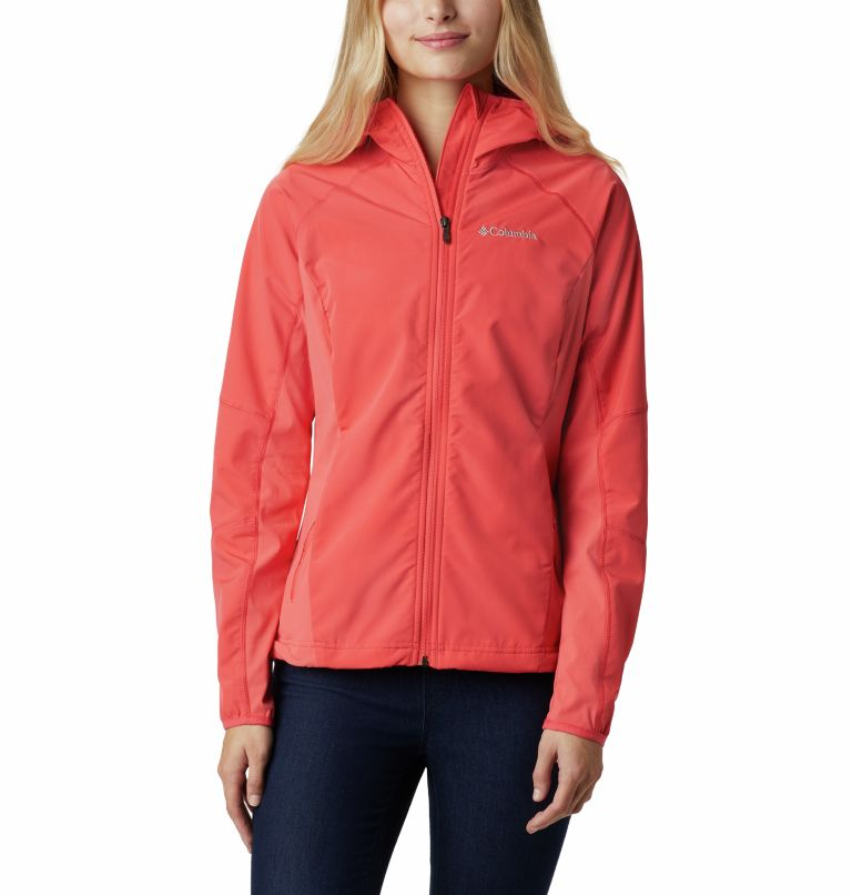 Sweet As™ Softshell Hoodie | 633 | S Women's Sweet As™ Softshell Hoodie, Red Coral, front