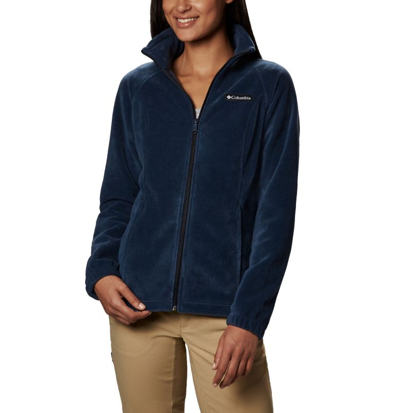 Benton Springs™ Full Zip | 425 | S Women's Benton Springs™ Full Zip Fleece Jacket, Columbia Navy, front