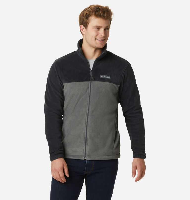 Steens Mountain™ Full Zip 2.0 | 011 | L Men's Steens Mountain™ 2.0 Full Zip Fleece Jacket, Black, Grill, front