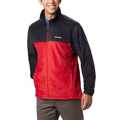 Men's Steens Mountain™ 2.0 Full Zip Fleece Jacket Steens Mountain™ Full Zip 2.0 | 835 | XL, Black, Mountain Red, front