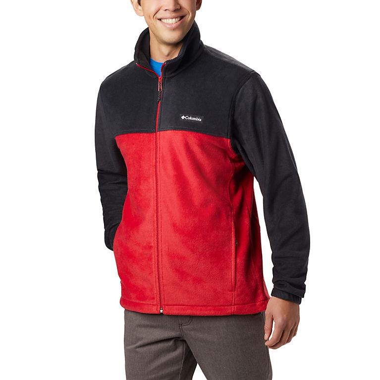 Black, Mountain Red Men's Steens Mountain™ 2.0 Full Zip Fleece Jacket, View 0