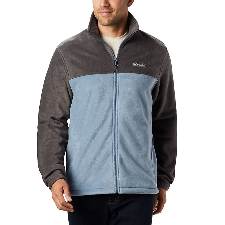 Mens Columbia Steens Mountain Gray Full Zip Fleece Size Small New w//Tags