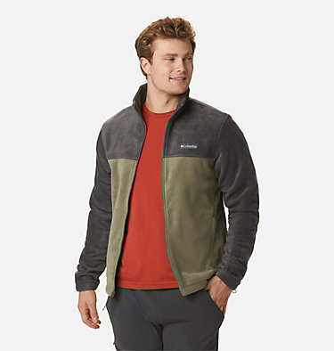 Men's Steens Mountain™ 2.0 Full Zip Fleece Jacket Steens Mountain™ Full Zip 2.0 | 024 | M, Shark, Stone Green, front