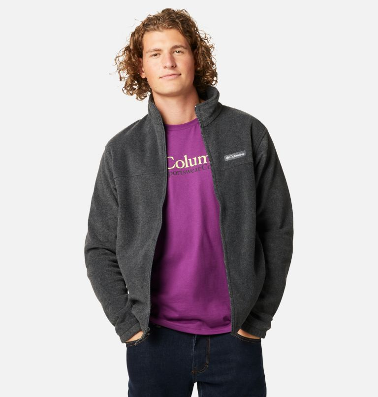 Steens Mountain™ Full Zip 2.0   048   S Men's Steens Mountain™ 2.0 Full Zip Fleece Jacket, Charcoal Heather, front