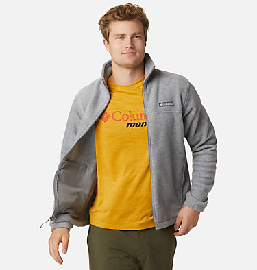 Men's Steens Mountain™ 2.0 Full Zip Fleece Jacket Steens Mountain™ Full Zip 2.0 | 024 | M, Light Grey Heather, front