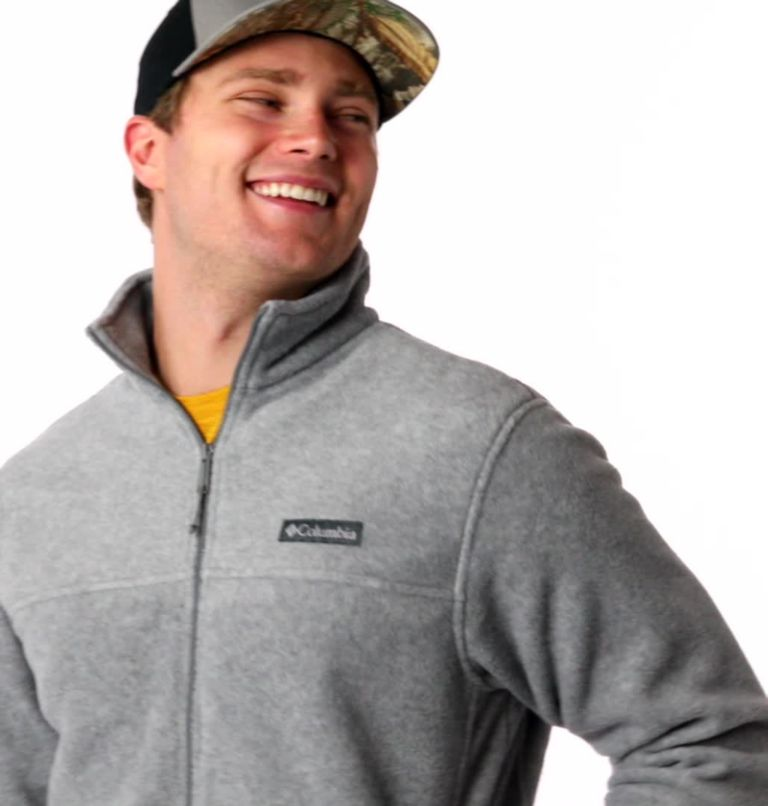 Steens Mountain™ Full Zip 2.0 | 060 | L Men's Steens Mountain™ 2.0 Full Zip Fleece Jacket, Light Grey Heather, video