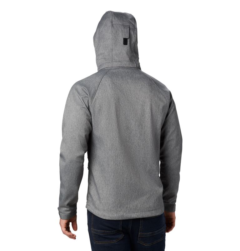 Cascade Ridge™ II Softshell   030   S Men's Cascade Ridge™ II Softshell Jacket, Charcoal Heather, back