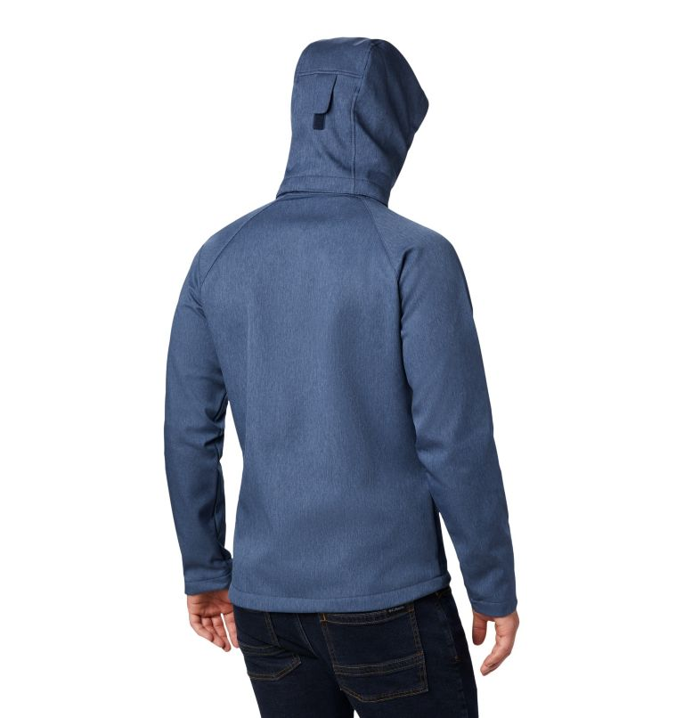 Cascade Ridge™ II Softshell | 465 | L Men's Cascade Ridge™ II Softshell Jacket, Collegiate Navy Heather, back