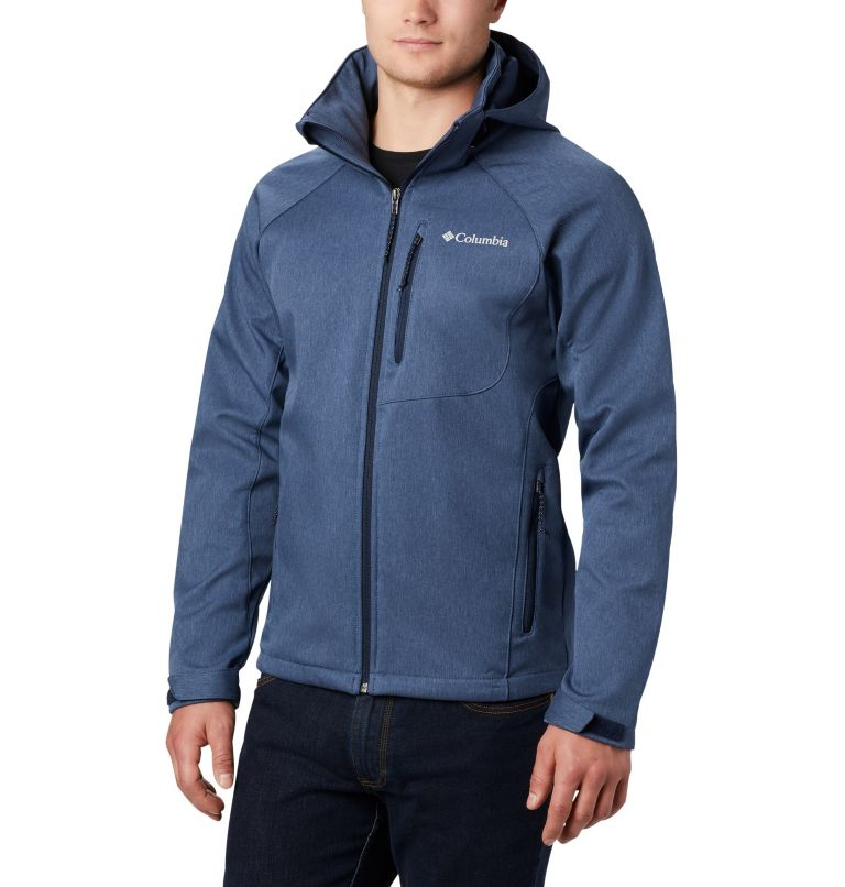 Cascade Ridge™ II Softshell | 465 | L Men's Cascade Ridge™ II Softshell Jacket, Collegiate Navy Heather, front