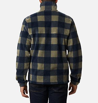 Men's Steens Mountain™ Printed Fleece Jacket Steens Mountain™ Printed Jacket | 022 | S, Stone Green Check Print, back
