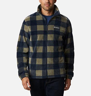 Men's Steens Mountain™ Printed Fleece Jacket Steens Mountain™ Printed Jacket | 022 | S, Stone Green Check Print, front