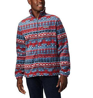 Men's Steens Mountain™ Printed Fleece Jacket Steens Mountain™ Printed Jacket | 022 | S, Dark Mountain Classic Retro, front