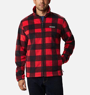 Men's Steens Mountain™ Printed Fleece Jacket Steens Mountain™ Printed Jacket | 022 | S, Mountain Red Check Print, front