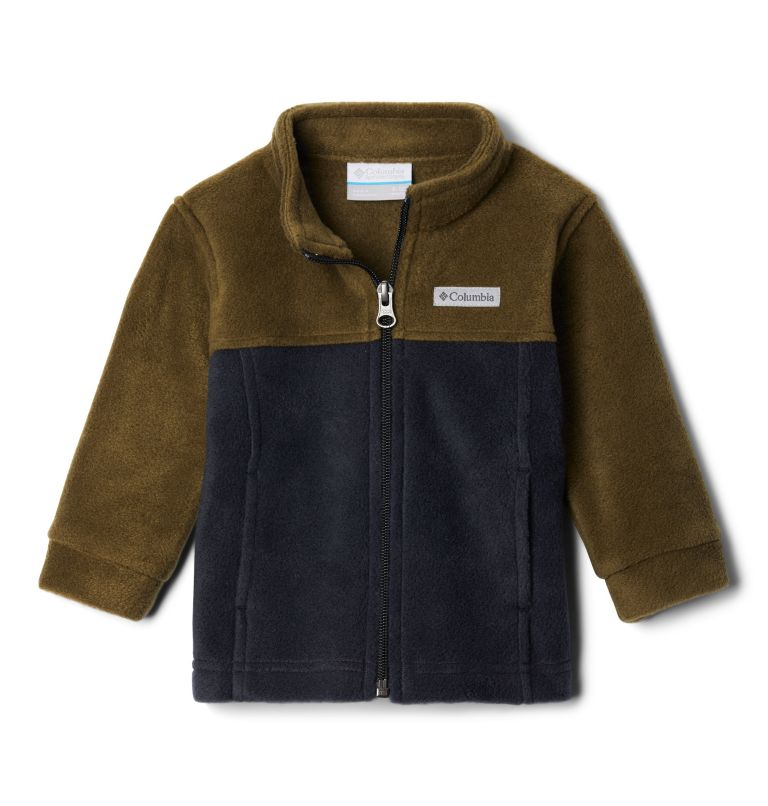 Steens Mt™ II Fleece | 009 | 12/18 Boys' Infant Steens Mountain™ II Fleece Jacket, Black, New Olive, front