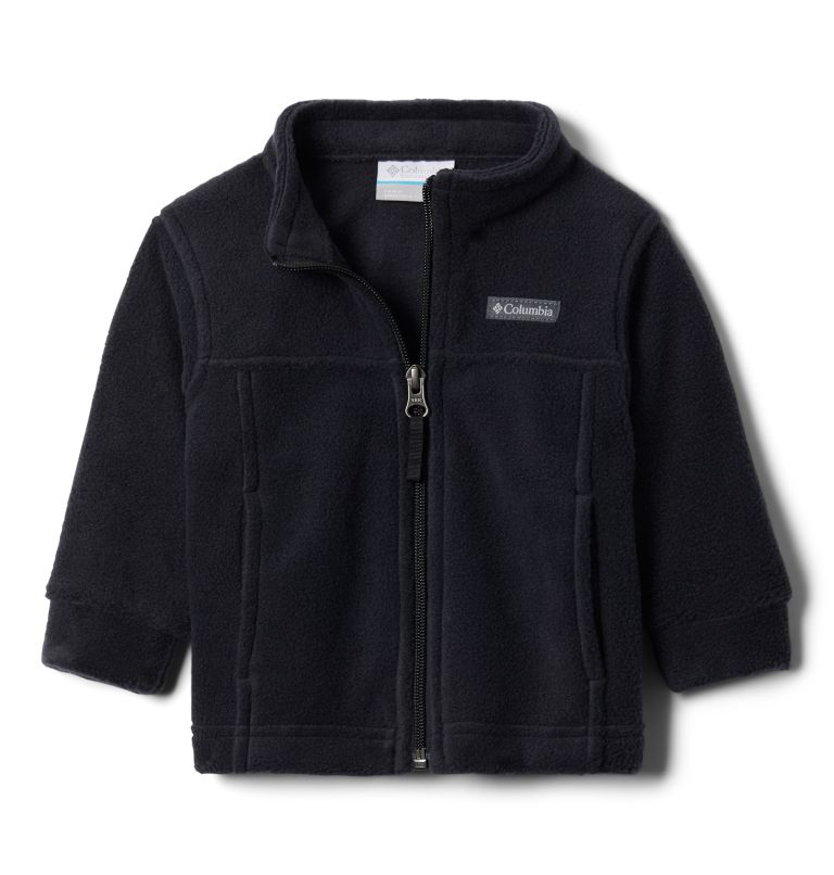 Steens Mt™ II Fleece | 010 | 3/6 Boys' Infant Steens Mountain™ II Fleece Jacket, Black, 3/4 front