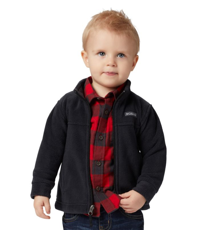 Steens Mt™ II Fleece | 010 | 3/6 Boys' Infant Steens Mountain™ II Fleece Jacket, Black, front